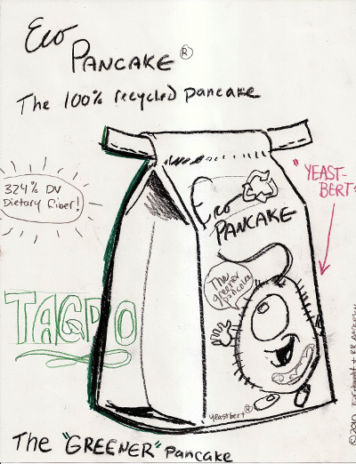 """Eco Pancake... 100% recycled!"""