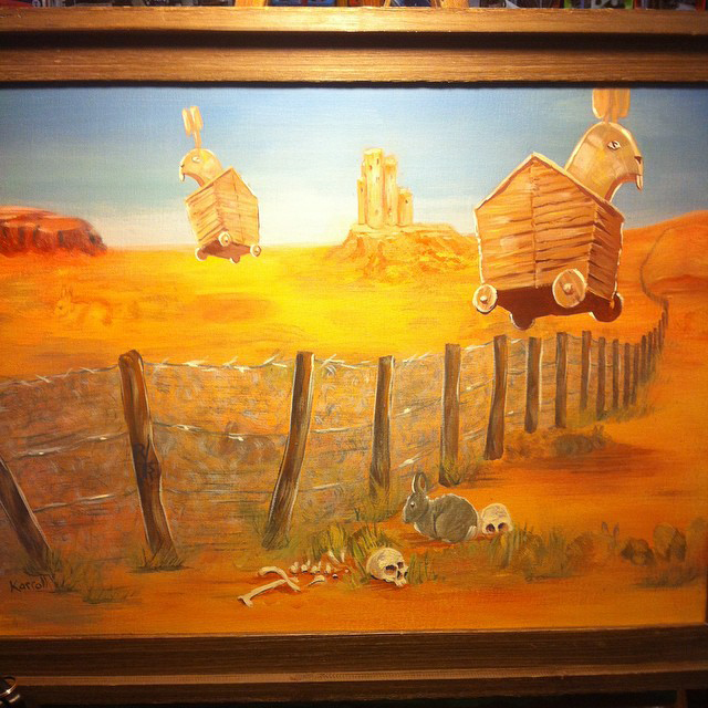 """Rabbit Proof Fence"" AFTER - $350"
