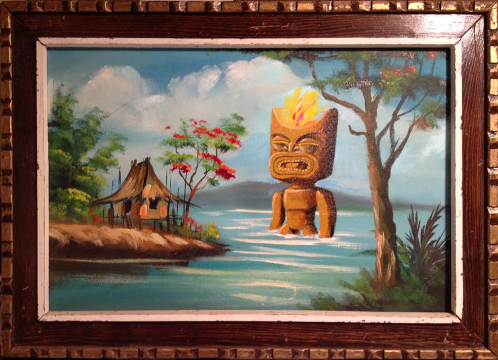 """""""Aloha 'auinala, Tiki"""" by Mark - $300"""