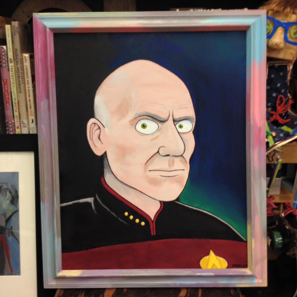 """Angry Picard"" by Mark Monlux $300 Received the Shut Up, Wesley Award [Days of Future Past Poster]"