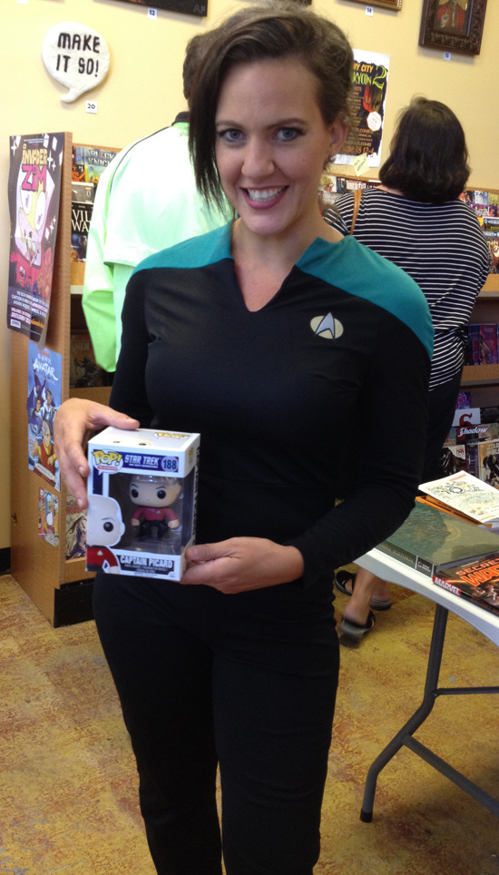 Becky Hoover won the Costume Contest Award [POP figurine]