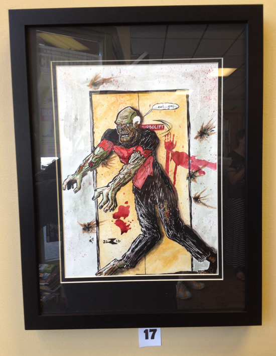 Untitled by Rob Clifford $250 Received the Riker's Beard Award [Deadpool Poster]