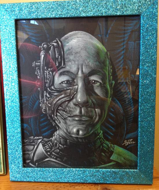 "24)""Resistance is Futile"" by Mark Brill $250 Received the I am Borg Award [Apocalypse Poster]"
