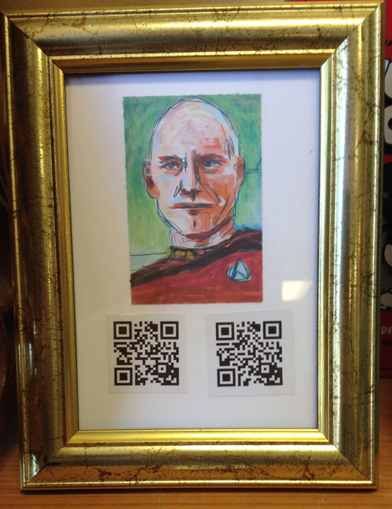 """Picard Talking 1 & 2"" by Terese Cuff $20 Be sure to scan!"