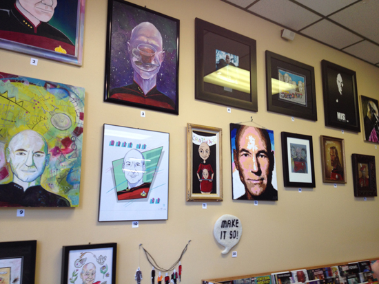 Wall of Picard at Destiny City Comics
