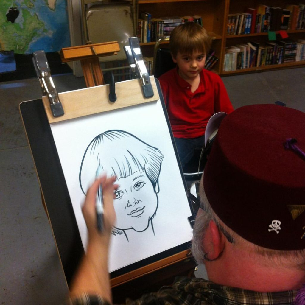 Caricature Demonstration by Mark Brill